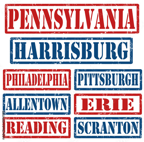 Pennsylvania Cities stamps