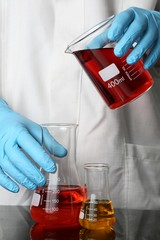 Laboratory Glassware and Hands