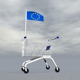 European shopping - 3D render