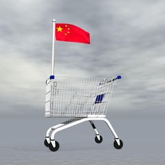Chinese shopping - 3D render