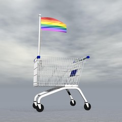 Gay shopping - 3D render