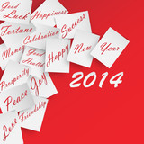 Happy New Year 2014 White Wishes