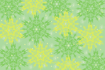 green background with pattern and colors