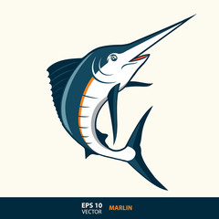 marlin cartoon style