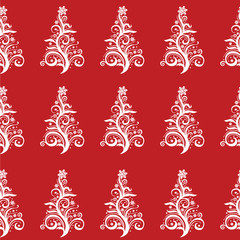 Seamless Christmas Tree pattern! Vector eps10
