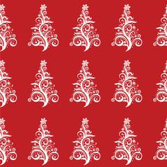 Seamless Christmas Tree pattern! Vector eps10
