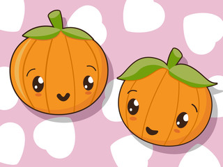 Kawaii pumpkin icons