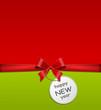 Schleife mit Schild - happy new year