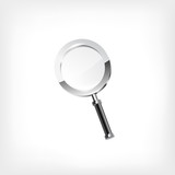 Magnifying glass isolated on white backgroun