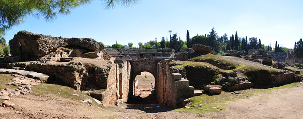 ancient amphitheatre of Merida, Spain