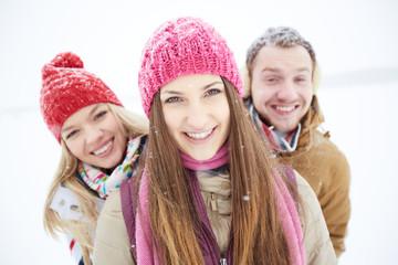 Girl in winterwear