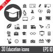 30 Education icons set. Illustration eps 10