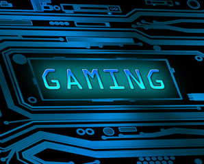 Gaming concept.