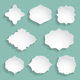 set of white paper decorative frames