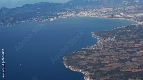 City of Palma de Mallorca aerial shot