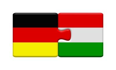 Puzzleteile: Deutschland und Ungarn zusammen