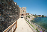 Ancient city wall on the waterfront Bulgarian Sozopol