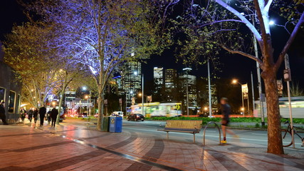 Melbourne City, time lapse panning