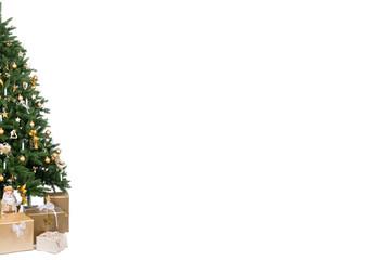 halber weihnachtsbaum mit freifläche