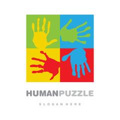 Fair hands puzzle logo