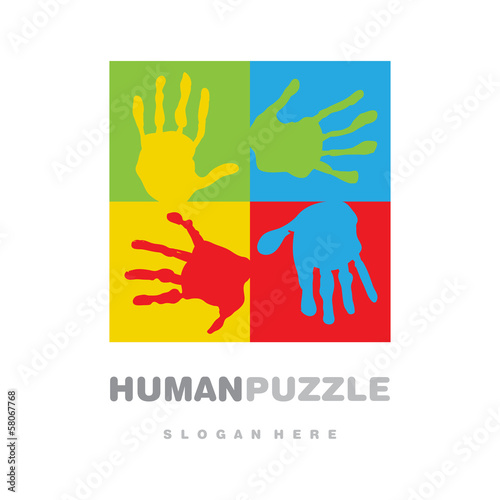 Fair hands puzzle logo