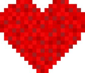 pixel heart design