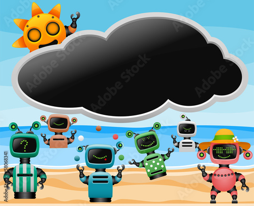 robots on the beach