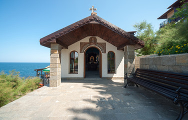 Sea chapel in the Bulgarian town of Sozopol