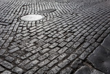 Fototapety Old cobblestone street from New York City