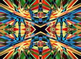 Colourful kaleidoscope background - 58069179
