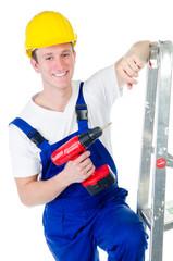 freundlicher junger Heimwerker