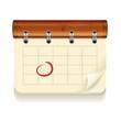 Vector illustration of detailed calendar icon