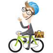 Businessman, bicycle, commute, eco-friendly