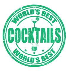 Cocktails stamp