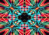 Colourful kaleidoscope background - 58070712