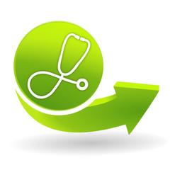 médecin sur symbole vert