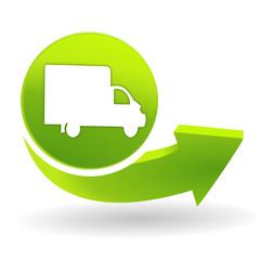 livraison sur symbole vert