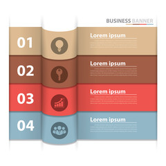 Banner business infographics