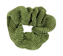 Green Scrunchy Hair Holder