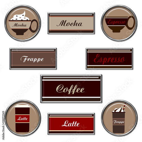 Coffee Button Sets