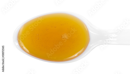 Maple Syrup On Spoon