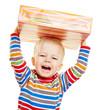 Quadro Jubelndes Kind zu Weihnachten mit Geschenk