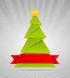 Weihnachtsbaum mit Banner