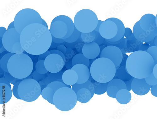 Abstract 3d blue design circles