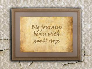 Big journeys, small steps