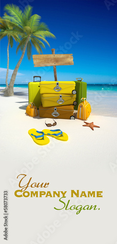 Luggage on the beach