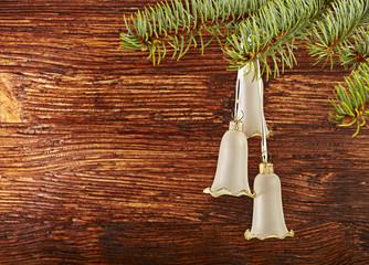 Christmas decoration. Christmas bells. Selective focus