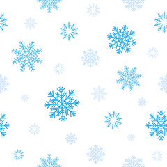 blue snow pattern