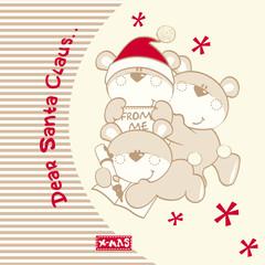Three Christmas Teddy Bears