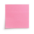 pink sticky note with shadow